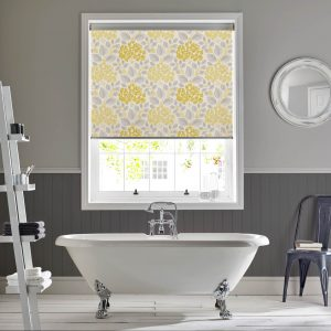 Hydrangea_Primrose_Yellow_Bathroom_Roller